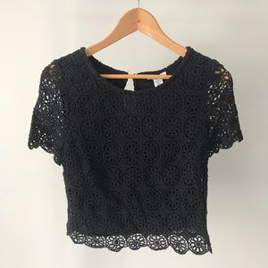 Bar III Crochet Crop Top